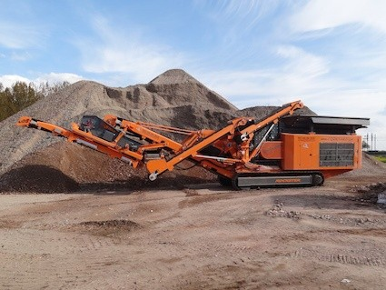 First Rockster crusher in the Netherlands
