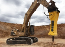 Epiroc hydraulic breaker HB 7000 DP a successful solution for a Mallorca quarry